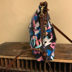 Fossil vegan abstract floral print print Purse